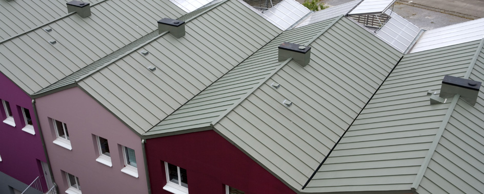 Roofing applications : double standing seam