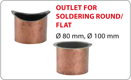 Outlet for soldering round/flat Vestis