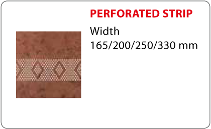 Perforated strip Vestis