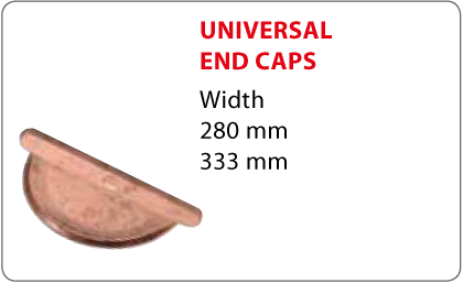 Universal end caps Vestis