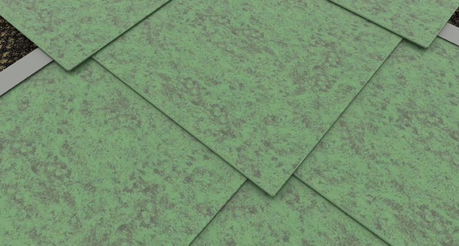 Detail: roofing applications with SHINGLES - TILES