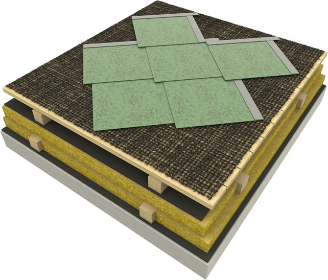 Roofing applications with SHINGLES - TILES